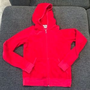 Red juicy couture velour hoodie❤️